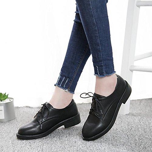 73d9690a0e9d3 GAOLIM Zapatos De Mujer Zapatos Bajos De Cabeza Redonda Con Correa Solo  Zapatos Mujer Zapatos Negros Con Negrita