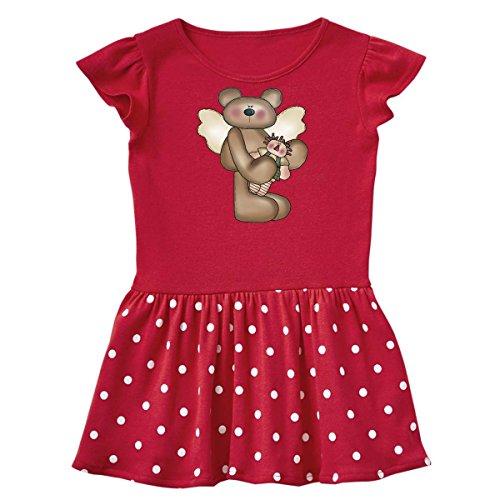 inktastic RAG Doll Angel Bear Infant Dress 6 Months Red and Polka Dot 3fb8