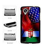 BleuReign(TM) Hungary and USA Mixed Flag Plastic Phone Case Back Cover Google Nexus 5 D820