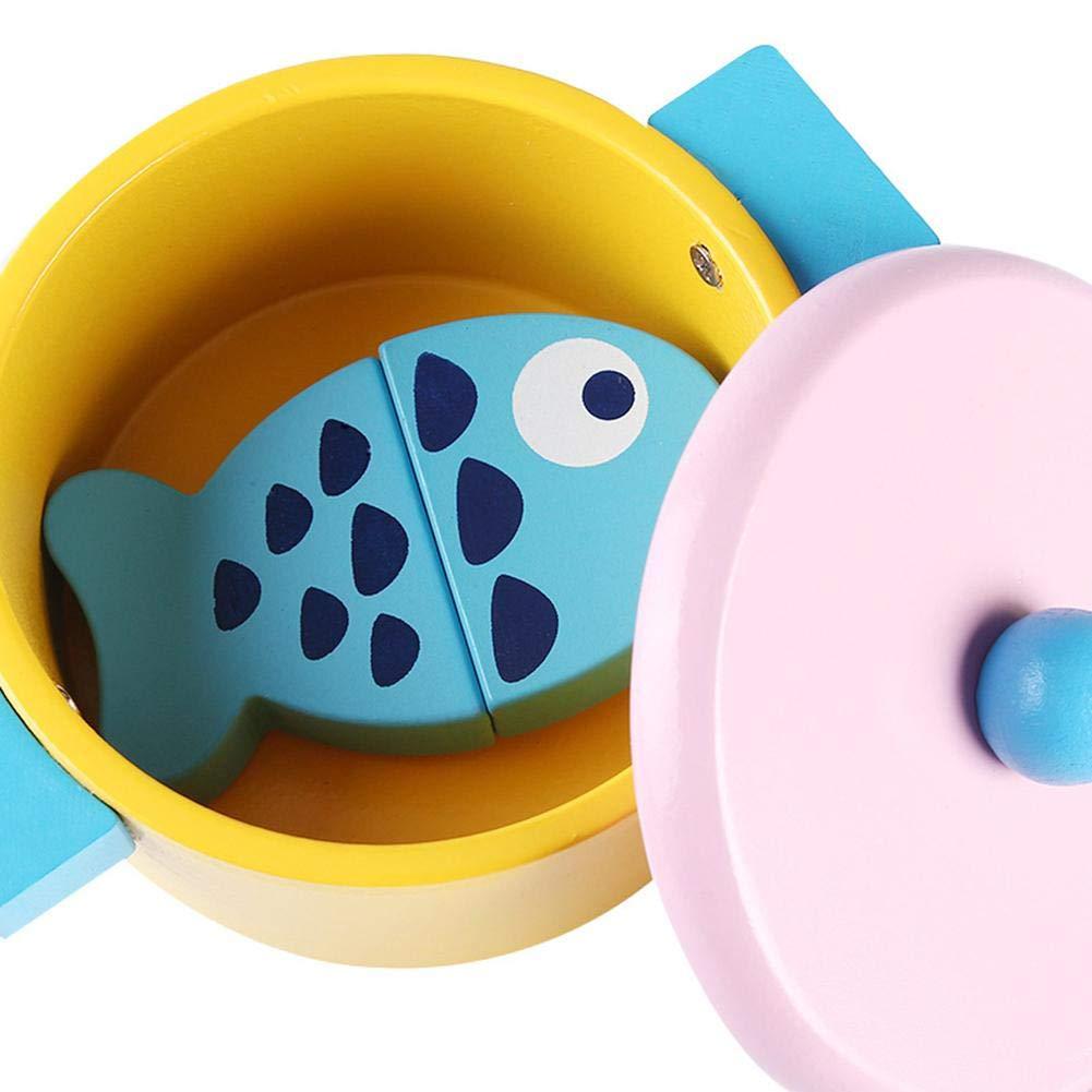 Navigatee Cocina de simulación, casa de juguete de madera, vajilla educativa infantil, ollas, juguetes, niñas, juguetes de cocina: Amazon.es: Bebé