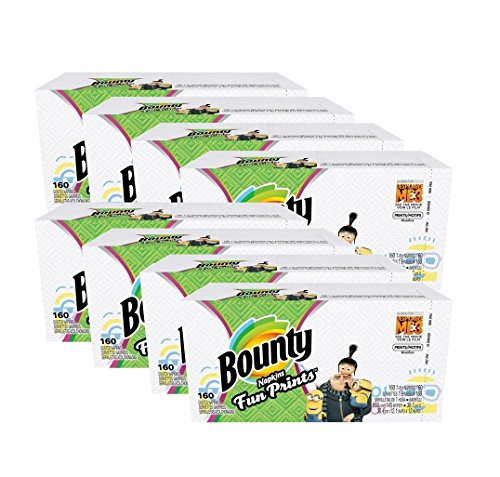 Bounty paper napkins, despicable me 3 select prints, 160 count (Plates To Decorative Buy Where)