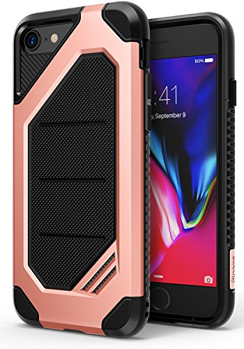 Ringke MAX Compatible with Apple iPhone 8 Phone Case Advanced Dual Layer Heavy Duty Protection [Shock Absorption Technology] Stylish Armor Strength Resistant Protective Cover for iPhone 7 - Rose Gold