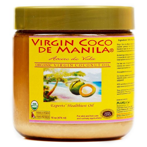 Organic 100% Virgin Coconut Oil – 16 oz (474 ml) Natural Skin/Hair Care ZERO PRESERVATIVES, ZERO ADDITIVES For Sale