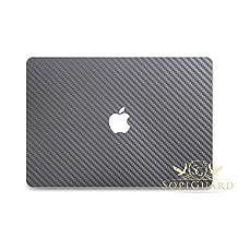 SopiGuard Gunmetal Carbon Fiber Full Body Vinyl Skin Apple Macbook Pro 13 Retina