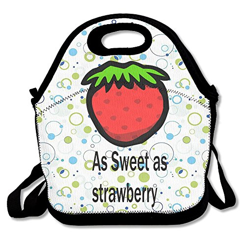 Ojinwangji As Sweet As Strawberry Lunch Bag Thermal Bags Outdoor Picnic Meal Package For Boys Girls Women Kids]()