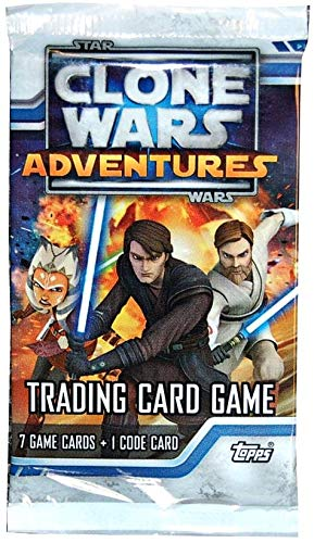 (Topps Clone Wars Adventures Trading Card Game Booster Pack Box)