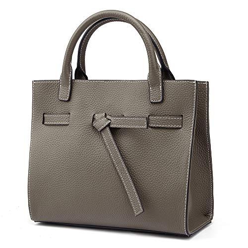 Women Genuine Leather Handbags Top-handle Bags Supple Cowhide Satchels Shoulder Handbags