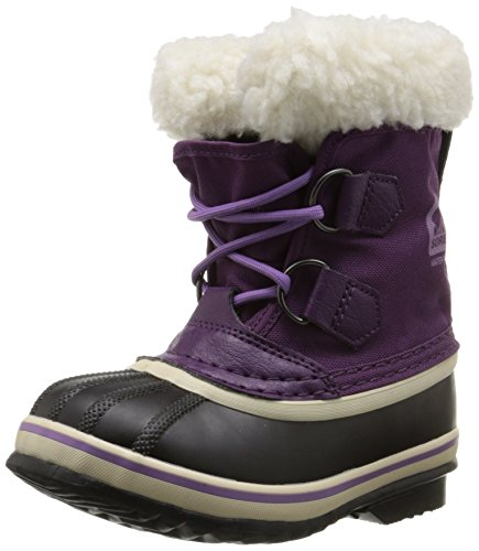 Sorel Yoot Pac Nylon BR Cold Weather Boot (Toddler/Little Kid/Big Kid), Bramble/Black, 6 M US Big Kid ()