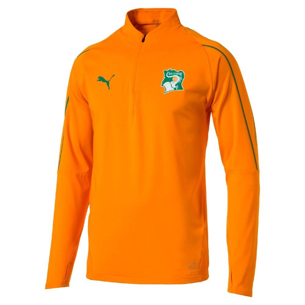 Puma Elfenbeinküste 1 4 Zip Top - orange 2018 2019