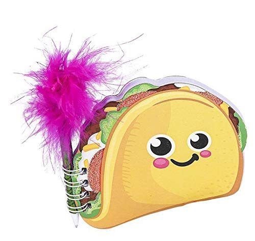 DollarItemDirect 4'' Taco Notebook with Feather Pen, Case of 288 by DollarItemDirect (Image #1)
