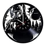 Star Wars Boba Fett Vinyl Record Wall Clock – Living room wall decor – Gift ideas for father and mother, teens – Unique Art Design Review