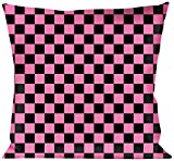 Buckle-Down Throw Pillow Black/Pink, Checkered