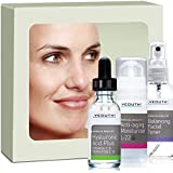 Best Anti-Aging 3 Pack Skin Care System by YEOUTH, Professional Grade Hyaluronic Acid Plus, Patented L22 Facial Moisturizer, and Balancing Facial Toner - You will love it or your money back!