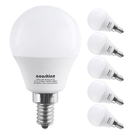 Amazon.com: Focos LED tipo globo G45 E12, 5.00watts, 120.00 ...