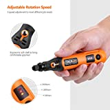 Tacklife PCG01B 3.7V Li-on Cordless Rotary tool - Three-Speed with 31-Piece Rotary accessory Kit, USB charging Cable, Collet Size 3/32-inch(2.3mm) - Perfect for Small Jobs