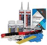 DIY Concrete Foundation Crack Repair Kit - Polyurethane Foam - 1/16'' to 1/2'' Wide Cracks - Low-Pressure Injection Method (FLEXKIT-100X)