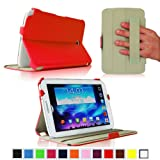 Fintie ClickBook Series Folio Hardback Case with Built-in Stand Auto Wake/Sleep for Samsung Galaxy Note 8.0 inch Tablet GT-N5100 / N5110 - Red