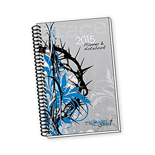 Images of Grace Black Thorns Christian 2017 Daily Planner, 236 Pages, Gray (BC-12273)