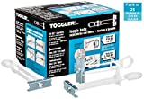 """TOGGLER SNAPTOGGLE BC Toggle Anchor, Zinc-Plated Steel Channel, Made in US, 3/8"""" to 2-1/2"""" Grip Range, For 3/8""""-16 UNC Fastener Size (Pack of 25)"""