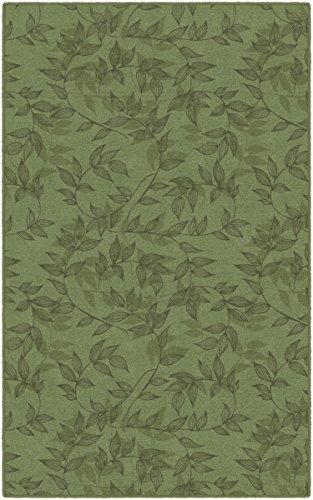 Brumlow Mills EW10309-5x8 Entwined in Green Simple Floral Area Rug 5