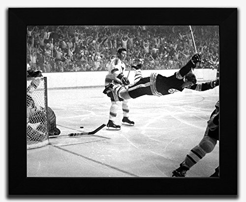 Boston Bruins Bobby Orr Framed 8x10 Photo of The Stanley Cup Game Winning Goal, 1970 ()