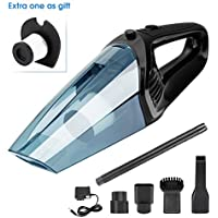 XUEJET Cordless Handheld Vacuum Rechargeable Car Vacuum Cleaner Portable Dust Busters for Cars Home Office Wet/Dry Cleaning (12V 120W) (Black)
