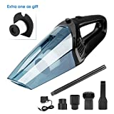 XUEJET Cordless Handheld Vacuum Rechargeable Car Vacuum Cleaner Portable vacuum for Cars Home Office Wet/Dry Cleaning (12V 120W) (Black)