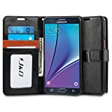Galaxy Note 5 Case, J&D [Stand View] Samsung Galaxy Note 5 Wallet Case [Slim Fit] [Stand Feature] Premium Protective Case Wallet Leather Case for Samsung Galaxy Note 5 (Black/Brown)