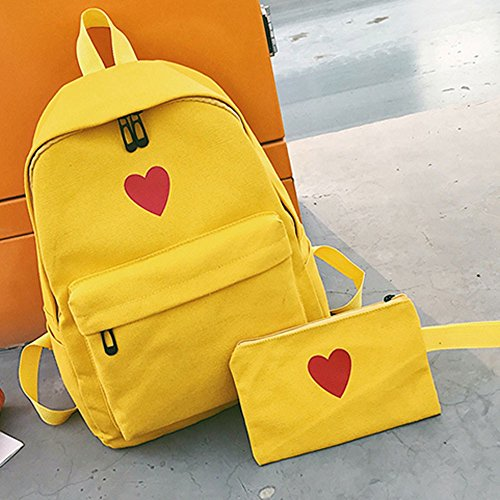 Daughter Large Campus Travel Yellow Capacity Package Package Girl Bag Canvas Bag EUzeo qw0OXx