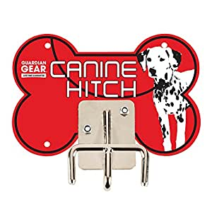 Guardian Gear Canine Hitches - Unique and Practical Metal Dog Leash Hitches, Red Dalmatian