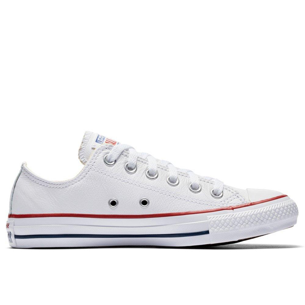 Converse Chucks All Star Ox Leather 132173C White Schuhe Sneaker Leder Weiß