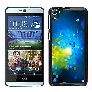 LECELL--Funda protectora / Cubierta / Piel For HTC Desire D826 -- Verde brillante Dots Spots Resumen --