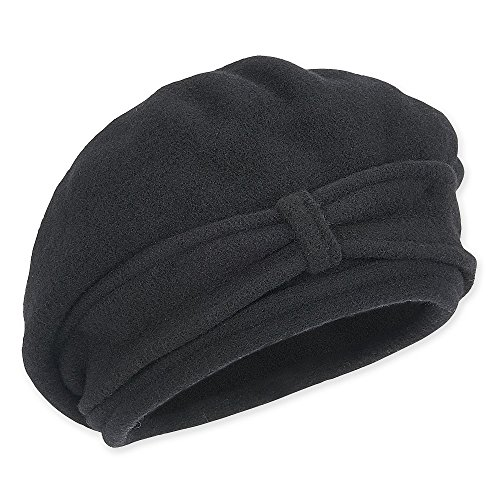 AD506 Soft Wool Beret with Self Bow Band (Black)