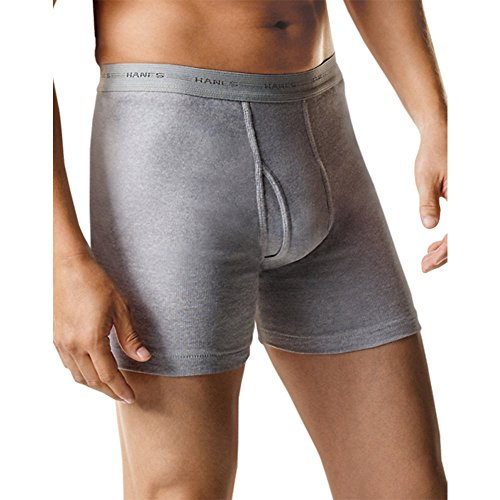 Hanes Men's 7-Pack Boxer Brief, Black/Grey, Large from Hanes