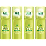 Ban Original Roll-On Antiperspirant Deodorant, Unscented, 1.5 Ounces (Pack of 4)
