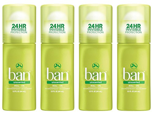 Ban Anti-Perspirant Deodorant Original Roll-On Unscented 1.50 oz ( Pack of - Ban You