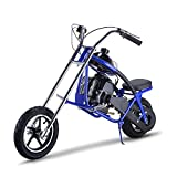 gas bike - Gas Scooter SAY YEAH Mini Dirt Pit Bike 2 Stroke Kids Mini Chopper,Powerful 49cc EPA Engine Motorized Bike for Boys and Girls,Non California Compliant,Blue
