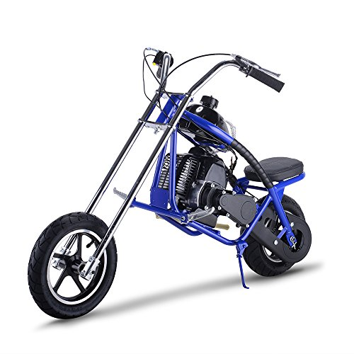 Gas Scooter SAY YEAH Mini Dirt Pit Bike 2 Stroke Kids Mini Chopper,Powerful 49cc EPA Engine Motorized Bike for Boys and Girls,Non California Compliant,Blue