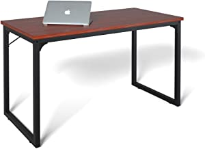 "Computer Desk 39"", Modern Simple Style Desk for Home Office, Sturdy Writing Desk, Coleshome, Teak"