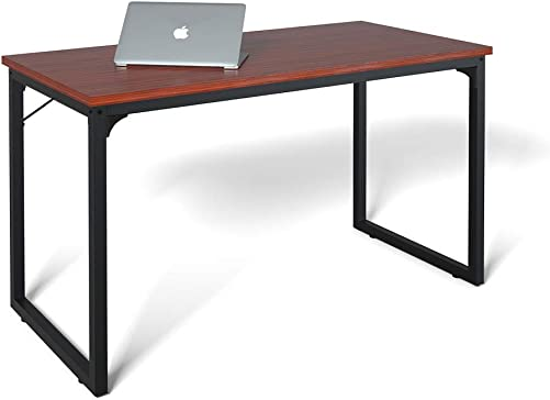 Computer Desk 47 , Modern Simple Style Desk for Home Office, Sturdy Writing Desk, Coleshome, Teak