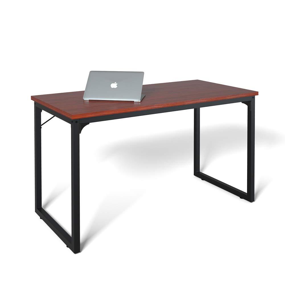 Computer Desk 47'', Modern Simple Style Desk for Home Office, Sturdy Writing Desk, Coleshome, Teak