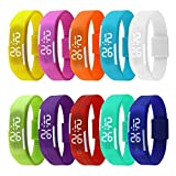 Tocosy Silicone Bracelet Ultra Thin LED Digital Watch Adjustable Sports Gym Running Wrist Watches Band Strap Fashionable