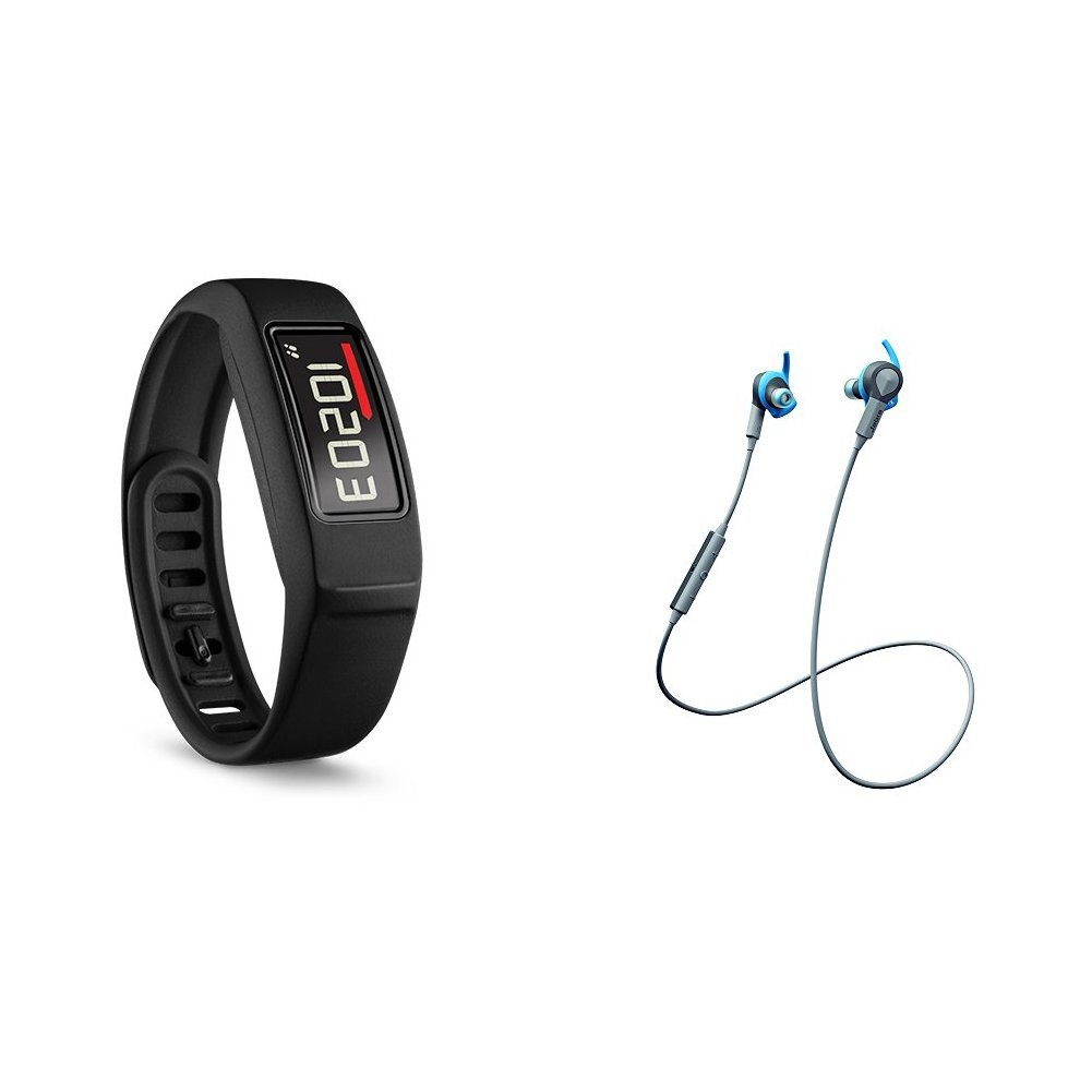 Vivofit 2 with Jabra Bluetooth Headphones by Garmin