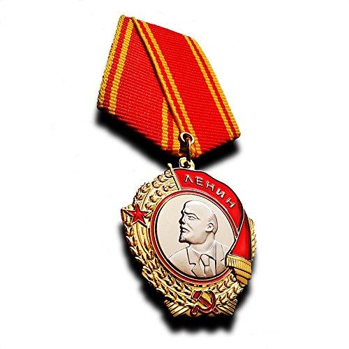 Goldbrothers13 Military Medal Order of Lenin Russian Soviet USSR Medal Highest Award New Rare, Replica