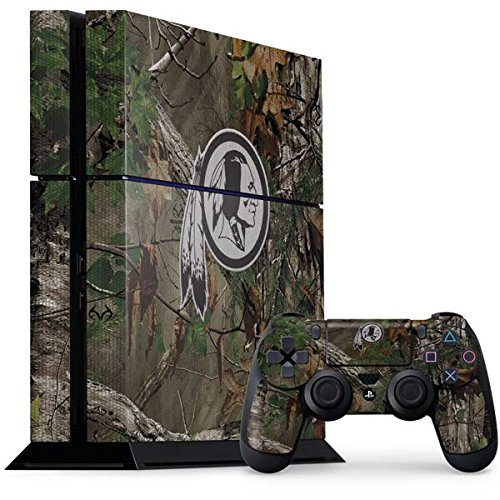 Skinit NFL Washington Redskins PS4 Console and Controller Bundle Skin - Washington Redskins Realtree Xtra Green Camo Design - Ultra Thin, Lightweight Vinyl Decal Protection by Skinit