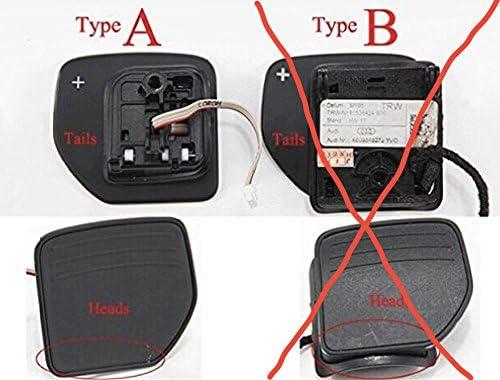 Q tipo A A3-A6 S H-Customs Dsg Shifters Padlle Shifter Comandi Del Cambio Jack Di Spostamento Shift Paddlein alluminio anodizzato nero 2012 RS