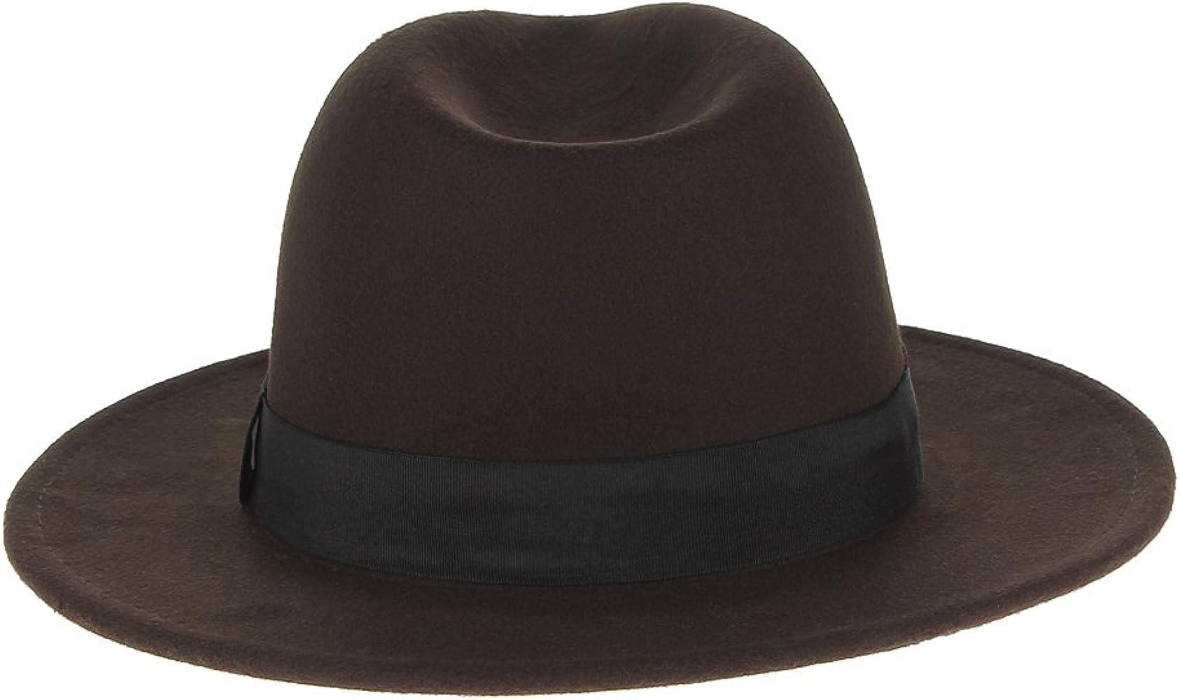 V SOL GEMVIE Hombre Sombrero de Copa Jazz Vintage Fiesta