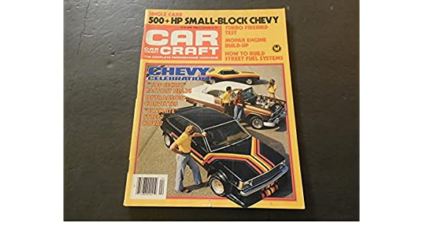 Car Craft Apr 1980 Turbo Firebird; 500 hp Small Block Chevy; MOPAR at Amazons Entertainment Collectibles Store