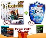 PremierZen Platinum 5000 Sexual Performance Enhancer [Bundle 6 Pills + 'Double Outlet' Gift]
