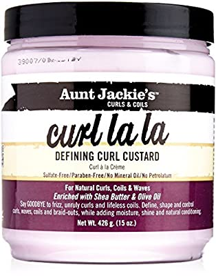 Aunt Jackie's Curl La La, Lightweight Curl Defining Custard, Creates Long Lasting Curly Hair with Mega-moisture Humectants, Enriched with Shea Butter and.